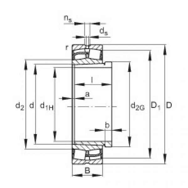 Spherical Roller Bearings 22238-E1-K + AH2238G FAG #1 image