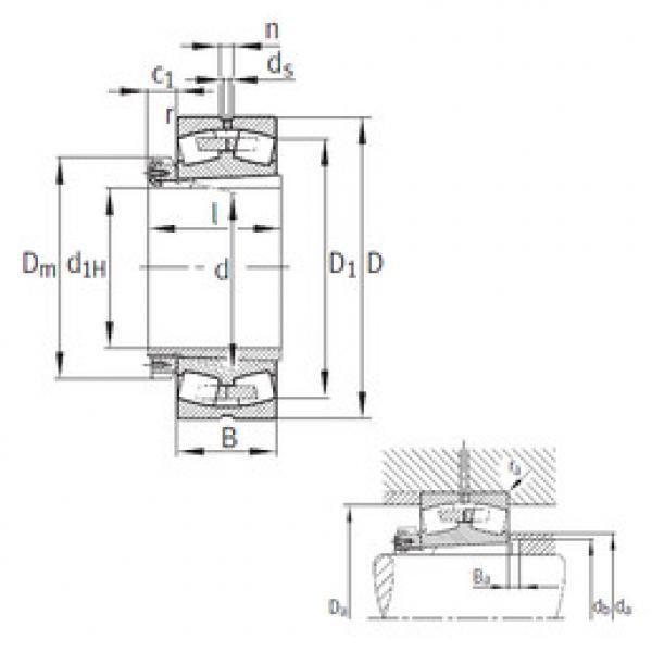 Spherical Roller Bearings 23172-K-MB+H3172 FAG #1 image