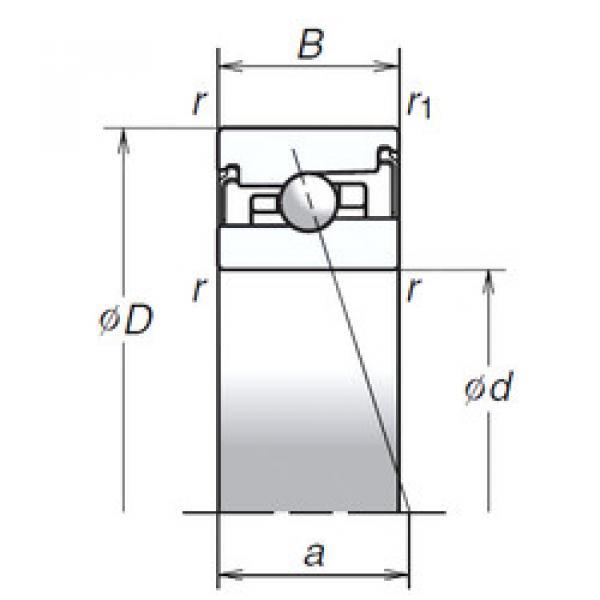 angular contact thrust bearings 70BER20HV1V NSK #5 image