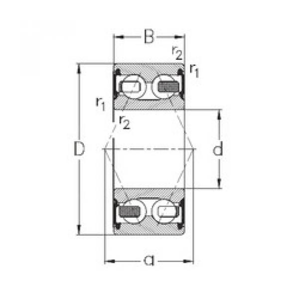 angular contact thrust bearings 3200-B-2RSR-TV NKE #5 image