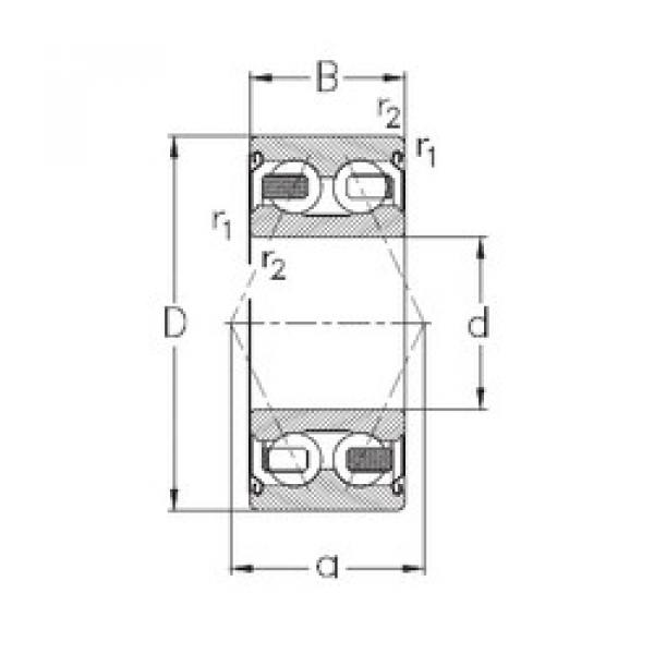 angular contact thrust bearings 3213-B-2Z-TV NKE #5 image