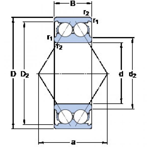 angular contact thrust bearings 3206 A SKF #5 image