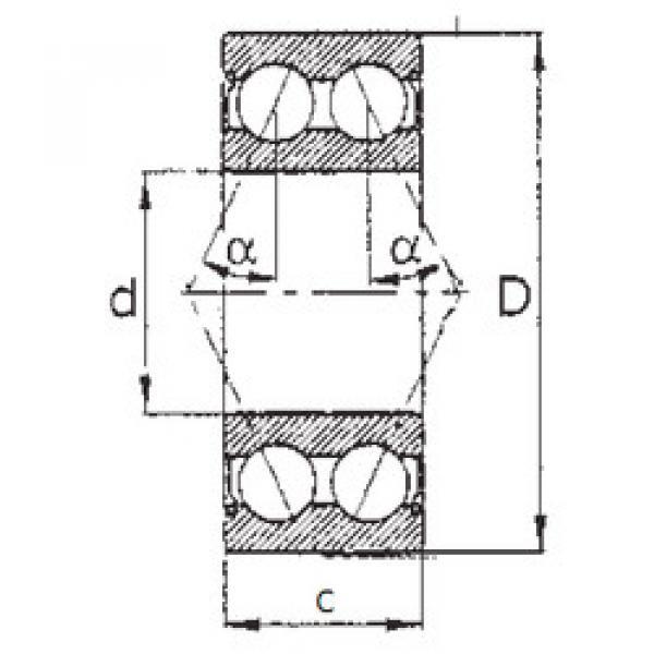 angular contact thrust bearings 5304ZZ FBJ #5 image
