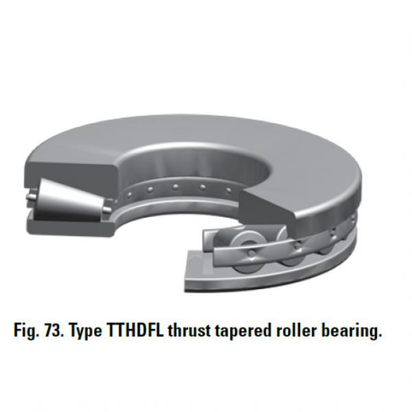 TTHDFL thrust tapered roller bearing T20750 #2 image