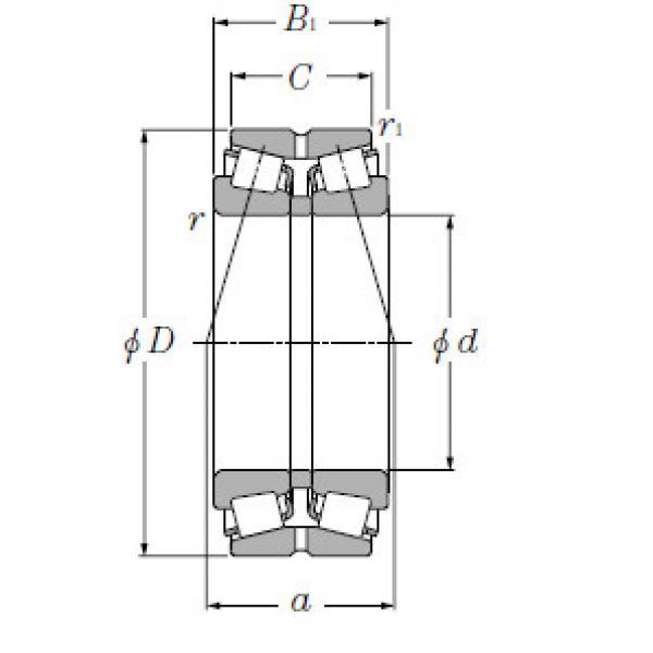 Double Row Tapered Roller Bearings NTN 432224XU #1 image