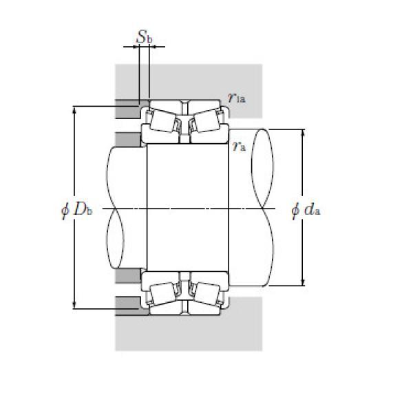 Double Row Tapered Roller Bearings NTN 432234XU #1 image