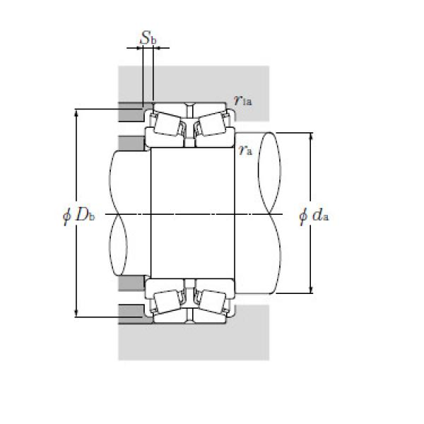 Double Row Tapered Roller Bearings NTN T-EE130902/131401D+A #1 image