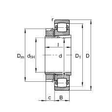 Spherical Roller Bearings 20213-K-TVP-C3 + H213 FAG
