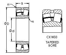 Spherical Roller Bearings 22232CKW33 AST