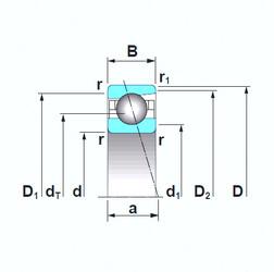 Angular Contact Ball Bearings 7919CTRSU NSK