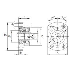 angular contact ball bearing installation ZKLFA1263-2Z INA