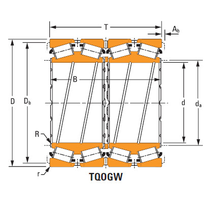 four-row tapered roller Bearings m281049dgw m281010
