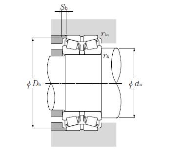 Double Row Tapered Roller Bearings NTN CRI-3210
