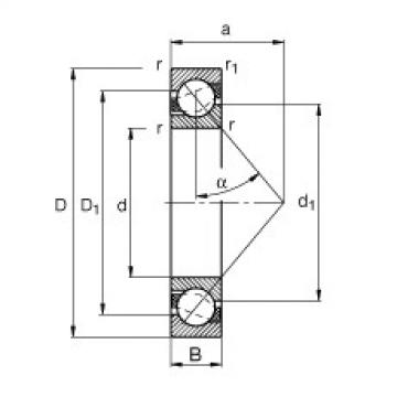 angular contact thrust bearings 71816-B-TVH FAG