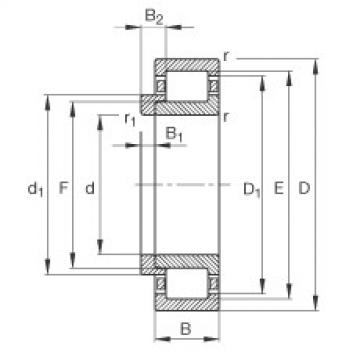 Cylindrical Bearing NJ308-E-TVP2 + HJ308-E FAG