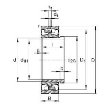 Spherical Roller Bearings 23030-E1A-K-M + AHX3030 FAG