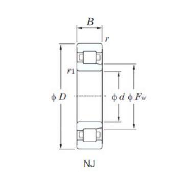 Cylindrical Bearing NJ307R KOYO