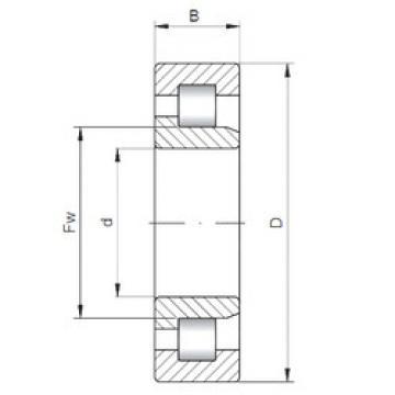 Cylindrical Bearing NJ3208 ISO
