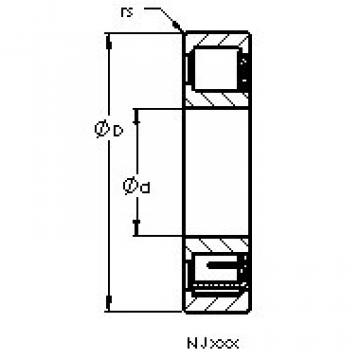 Cylindrical Bearing NJ314 EM6 AST