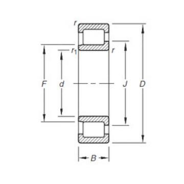 Cylindrical Bearing NJ303E.TVP Timken