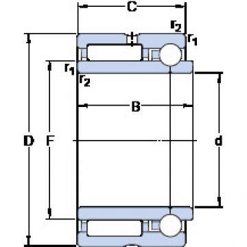 Cylindrical Bearing NKIB 5908 SKF