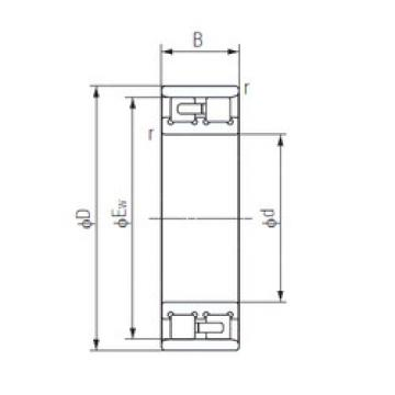 Cylindrical Bearing NN3016 NACHI