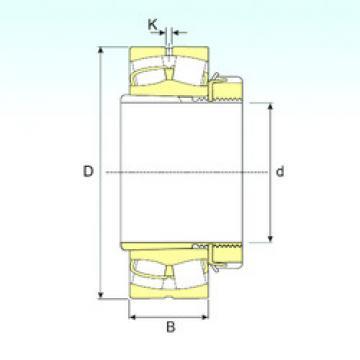 Spherical Roller Bearings 23022 EKW33+H322 ISB