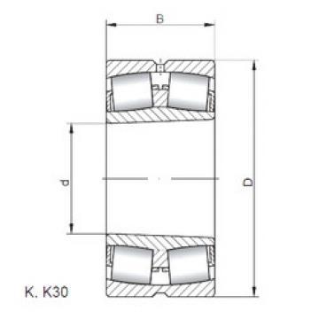 Spherical Roller Bearings 21306 KW33 ISO