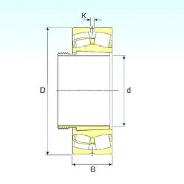 Spherical Roller Bearings 22380 EKW33+AOH3280 ISB