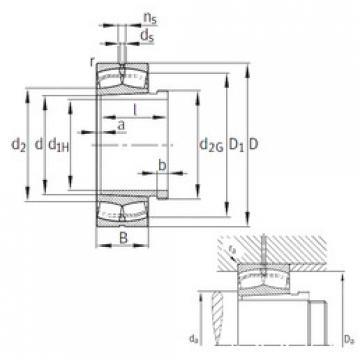 Spherical Roller Bearings 23028-E1-K-TVPB+AHX3028G FAG