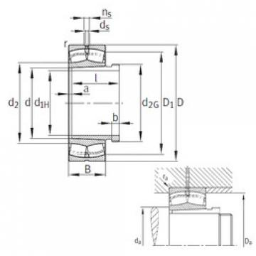 Spherical Roller Bearings 23140-B-K-MB+AH3140 FAG