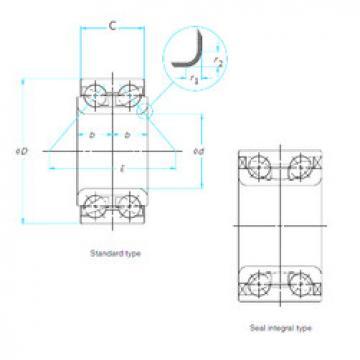tapered roller bearing axial load ZA-45BWD10ACA86** NSK