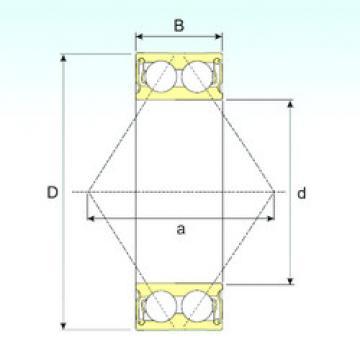 angular contact thrust bearings 3205-2RS ISB