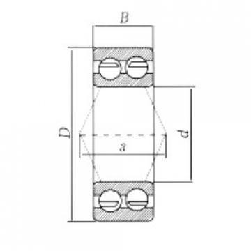 angular contact thrust bearings 3217-2RS CRAFT