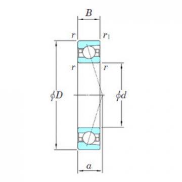 angular contact thrust bearings 3NCHAC020CA KOYO