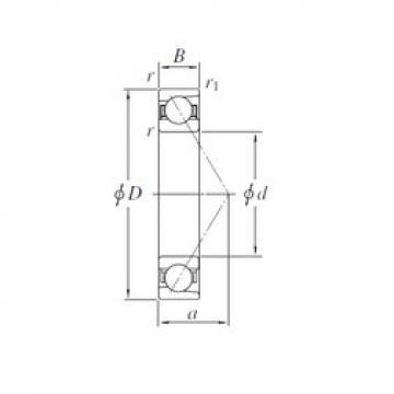 angular contact thrust bearings 7040B KOYO