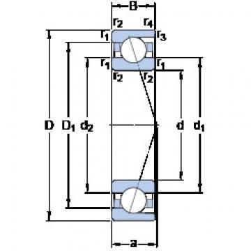 angular contact thrust bearings 7040 ACD/HCP4A SKF
