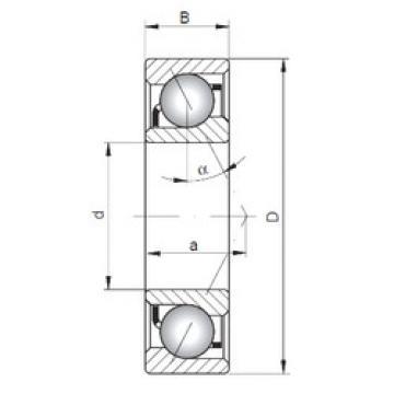 angular contact thrust bearings 7040 B ISO