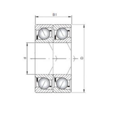 angular contact thrust bearings 7040 BDT ISO