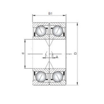 angular contact thrust bearings 7040 BDF ISO