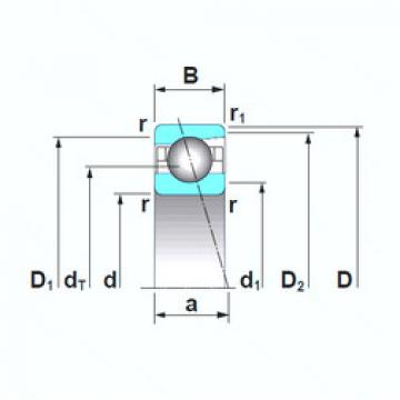 angular contact thrust bearings 7040A5TRSU NSK