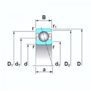 Angular Contact Ball Bearings 7919A5TRSU NSK