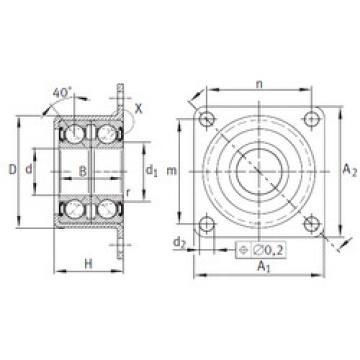 angular contact ball bearing installation ZKLR1547-2RS INA