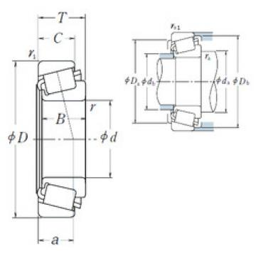 tapered roller dimensions bearings 56418/56650 NSK