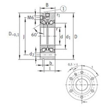 thrust ball bearing applications ZKLF30100-2RS INA