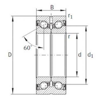 thrust ball bearing applications ZKLN5090-2RS-PE INA