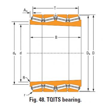 four-row tapered roller Bearings tQitS lm741330T lm741314d double cup