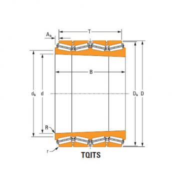 four-row tapered roller Bearings tQitS m255429T m255411 single cup