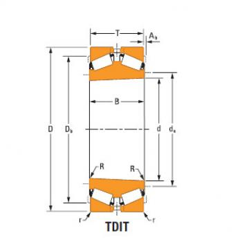 TdiT TnaT two-row tapered roller Bearings Hm256839Ta-Hm256849Ta Hm256810dc