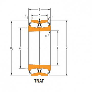 TdiT TnaT two-row tapered roller Bearings Hm259045Td Hm259010